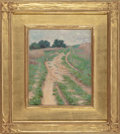 Fine Art - Painting, American:Antique  (Pre 1900), LUTHER EMERSON VAN GORDER (American, 1857-1931). CountryRoad, circa 1880. Oil on canvas. 10-1/2 x 8-1/2 inches (26.7 x...