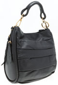 """Luxury Accessories:Bags, Christian Dior Black Leather Libertine Bag. Very GoodCondition. 14"""" Width x 12"""" Height x 5.5"""" Depth, 8"""" ShoulderDrop..."""
