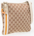 "Luxury Accessories:Accessories, Gucci Classic Monogram Canvas Crossbody Bag. Very GoodCondition. 10"" Height x 9"" Height x 1"" Depth, 21"" ShoulderDrop..."
