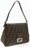 "Luxury Accessories:Accessories, Fendi Classic Monogram Zucca Canvas Mama Baguette Bag. Good toVery Good Condition. 11"" Width x 9"" Height x 3.5""Depth..."