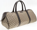 "Luxury Accessories:Travel/Trunks, Gucci Classic Monogram Canvas Travel Bag. Very GoodCondition. 21"" Width x 8"" Height x 11"" Depth, 6"" HandleDrop. ..."