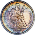 Seated Dimes, 1872-CC 10C MS63 PCGS. Fortin-101, R.5 (R.8 in Mint State)....