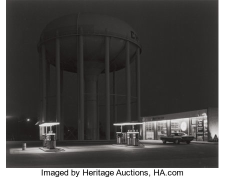 GEORGE A. TICE (American, b. 1938)Petit's Mobil Station, Cherry Hill, New Jersey, 1974Gelatin silver, printed 2004...