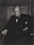 Photographs, YOUSUF KARSH (Canadian, 1908-2002). Karsh: A Fifty-Year Retrospective and Winston Churchill (signed book and photogr... (Total: 2 Items)