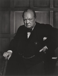YOUSUF KARSH (Canadian, 1908-2002) Karsh: A Fifty-Year Retrospective and Winston Churchill (