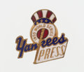 Autographs:Bats, 1955 World Series (New York Yankees) Press Pin - With Balfour Box....