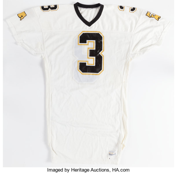 in stock 998eb 25327 1980's Bobby Hebert Game Issued New Orleans Saints Jersey ...