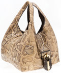 "Luxury Accessories:Bags, Loewe Natural Python Tote Bag. Very Good Condition. 13""Width x 12"" Height x 12"" Depth, 10"" Shoulder Drop. ..."