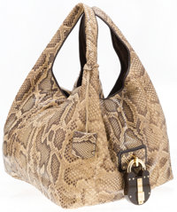 """Loewe Natural Python Tote Bag Very Good Condition 13"""" Width x 12"""" Height x 12"""" Depth, 10"""" Shoulde"""