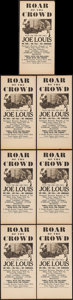 """Movie Posters:Sports, Roar of the Crowd (Norman, 1953). Heralds (7) (6"""" X 12.5""""). Sports.. ... (Total: 7 Items)"""