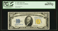 Small Size:World War II Emergency Notes, Fr. 2309 $10 1934A North Africa Silver Certificate. PCGS Gem New 66PPQ.. ...
