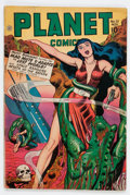 Golden Age (1938-1955):Science Fiction, Planet Comics #51 (Fiction House, 1947) Condition: VG....