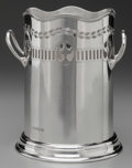 Silver Holloware, British:Holloware, A WILLIAM HUTTON & SONS SILVER HANDLED BOTTLE HOLDER,Sheffield, England, circa 1924-1925. Marks: (lion passant),(crown), ...