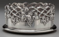 Silver Holloware, American:Other , A GRAFF, WASHBOURNE & DUNN SILVER AND WALNUT WINE COASTER, NewYork, New York, circa 1930. Marks: (diamond-quatrefoil-diamon...