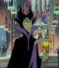 Animation Art:Production Cel, Sleeping Beauty Maleficent Production Cel and PaintedBackground (Walt Disney, 1959). ...