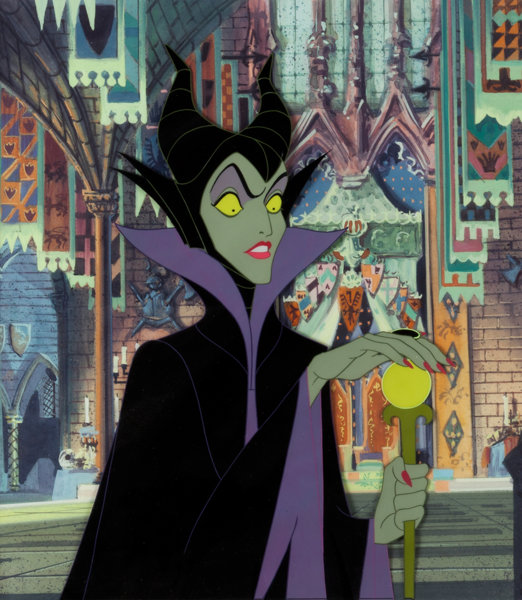 Sleeping Beauty Maleficent Production Cel And Painted
