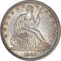 Seated Half Dollars, 1841 50C MS65 PCGS. CAC. WB-101....