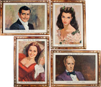 """A Set of Tabletop Lobby Standees from """"Gone With The Wind."""""""