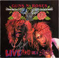Music Memorabilia:Autographs and Signed Items, Guns N' Roses - Signed Live Like A Suicide Album (1986)....