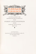 Books:Biography & Memoir, Robert Louis Stevenson. LIMITED. Father Damien: An Open Letterto the Reverend Dr. Hyde of Honolulu from Robert Louis St...
