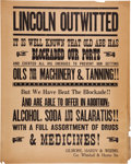 """Movie/TV Memorabilia:Props, A Prop Broadside Poster from """"Gone With The Wind.""""..."""