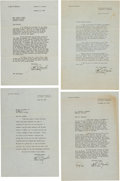 Movie/TV Memorabilia:Autographs and Signed Items, A John Marsh Group of Letters, 1950....