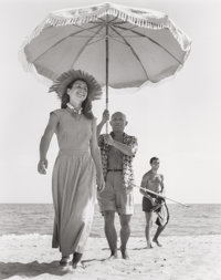 ROBERT CAPA (American, 1913-1954) Pablo Picasso and Françoise Gilot Golfe-Juan, August 1948 Gelatin