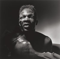 Larry Fink (American, 1941) Boxer, 1991 Gelatin silver print 14-3/4 x 14-3/4 inches (37.5 x 37.5