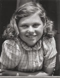 Photographs, MARGARET BOURKE-WHITE (American, 1904-1971). The Czech Girl, 1938. Gelatin silver. 9-3/8 x 7-3/8 inches (23.8 x 18.7 cm)...