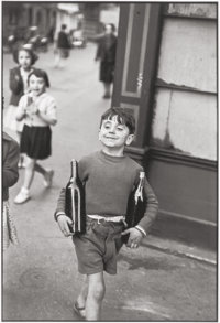 HENRI CARTIER-BRESSON (French, 1908-2004) Rue Mouffetard, 1954 Gelatin silver 14 x 9-3/8 inches (