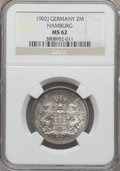 German States:Hamburg, German States: Hamburg. Free City 2 Mark 1902-J MS62 NGC,...