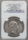 German States:Saxony, German States: Saxony. Albrecht 5 Mark 1902-E AU Details (Surface Hairlines) NGC,...