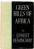 Books:Literature 1900-up, Ernest Hemingway. The Green Hills of Africa. New York:Charles Scribner's Sons, 1935....