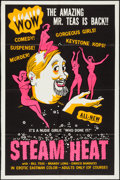 "Movie Posters:Sexploitation, Steam Heat (William Mishkin Motion Pictures Inc., 1963). TrimmedSilk Screened One Sheet (27.75"" X 41.75""). Sexploitation.. ..."