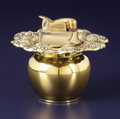 Silver Holloware, American:Other , An American Silver Gilt Table Lighter. Reed & Barton, Taunton,Massachusetts. Designed 1907. Silver gilt. Marks: REED &...