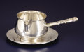 Silver Holloware, American:Sauce Boats, An American Silver Brandy Sauce Boat and Underplate. Reed &Barton, Taunton, Massachusetts. Designed 1907. Silver. Marks: ...
