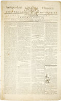 Books:Periodicals, The Bill of Rights in One of the Earliest Newspaper PrintingsKnown...