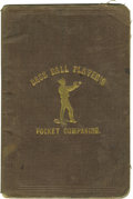 """Baseball Collectibles:Others, 1860 """"Base Ball Player's Pocket Companion."""" This """"Third RevisedEdition"""" of the seminal 1858 publication is considered a """"B..."""