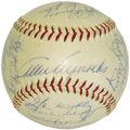 Autographs:Baseballs, 1954 New York Yankees Team Signed Baseball. The powerhouse Yankswon over one hundred games this season, but still couldn't ...