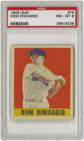 Baseball Cards:Singles (1940-1949), 1948-49 Leaf Dom DiMaggio SP #75 PSA NM-MT 8 (1 of 1). His brotherJoe may have gotten the lion's share of the attention ba...