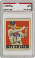 Baseball Cards:Singles (1940-1949), 1948-49 Leaf Alvin Dark SP #51 PSA NM 7. We are lucky enough to runa second one of this same card. Basically the card is mu...