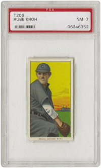 1909-11 T206 Rube Kroh PSA NM 7. Only one collector can boast ownership of a T206 Kroh superior to the example we presen...