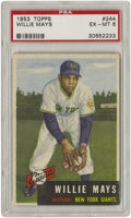 Baseball Cards:Singles (1950-1959), 1953 Topps Willie Mays #244 PSA EX-MT 6. A first rate card for ayear that placed Willie in the armed forces. His loss preve...