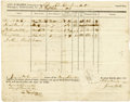 Miscellaneous:Ephemera, Attested Crew List for the Brig Adventure of Wilmington,South Carolina, 1812...