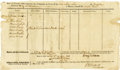 Miscellaneous:Ephemera, Attested Crew List for the Sloop Abby-Ann of Charleston,1814...