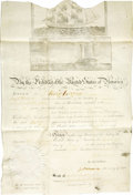 Autographs:U.S. Presidents, James Madison and James Monroe Document Signed...