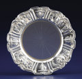 Silver Holloware, American:Coasters, An American Silver and Glass Wine Coaster. Reed & Barton,Taunton, Massachusetts. Designed 1907. Silver and glass. Marks: ...