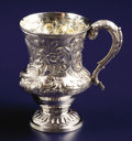 Silver Holloware, British:Holloware, A GEORGE III SILVER CUP. John Kentenber, London, England,1767-1768. Marks: (lion passant), (leopard's head crowned), (duty...