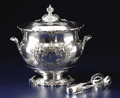 Silver Holloware, American:Other , An American Silver Ice Bucket and Tongs. Reed & Barton,Taunton, Massachusetts. Designed 1907. Silver, thermal glassliner... (Total: 2 Items)