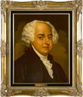"""Political:3D & Other Display (1896-present), John Adams and Abigail Adams Oil Portraits by Lawrence Williams.Each oil portrait is 16"""" x 20"""" and framed in gilt to an ove...(Total: 2 Item)"""